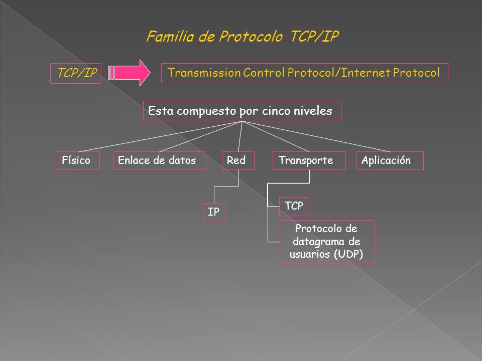 Familia de Protocolo TCP/IP