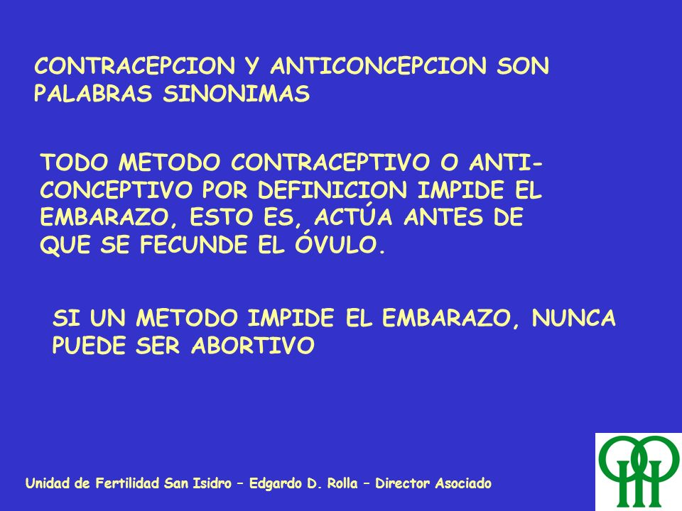 CONTRACEPCION Y ANTICONCEPCION SON PALABRAS SINONIMAS