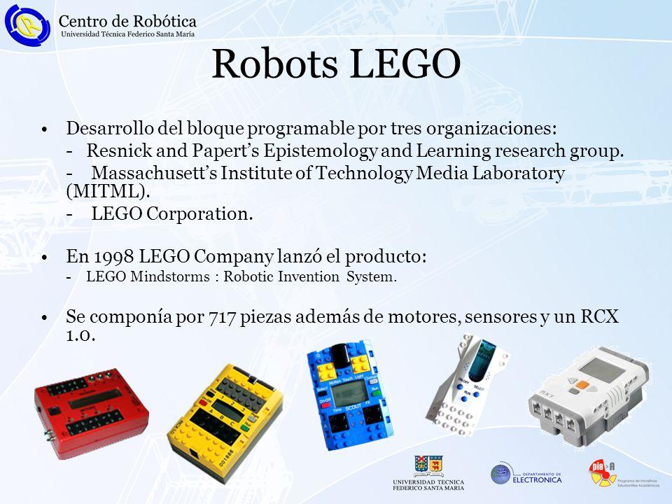Robots LEGO Desarrollo del bloque programable por tres organizaciones: