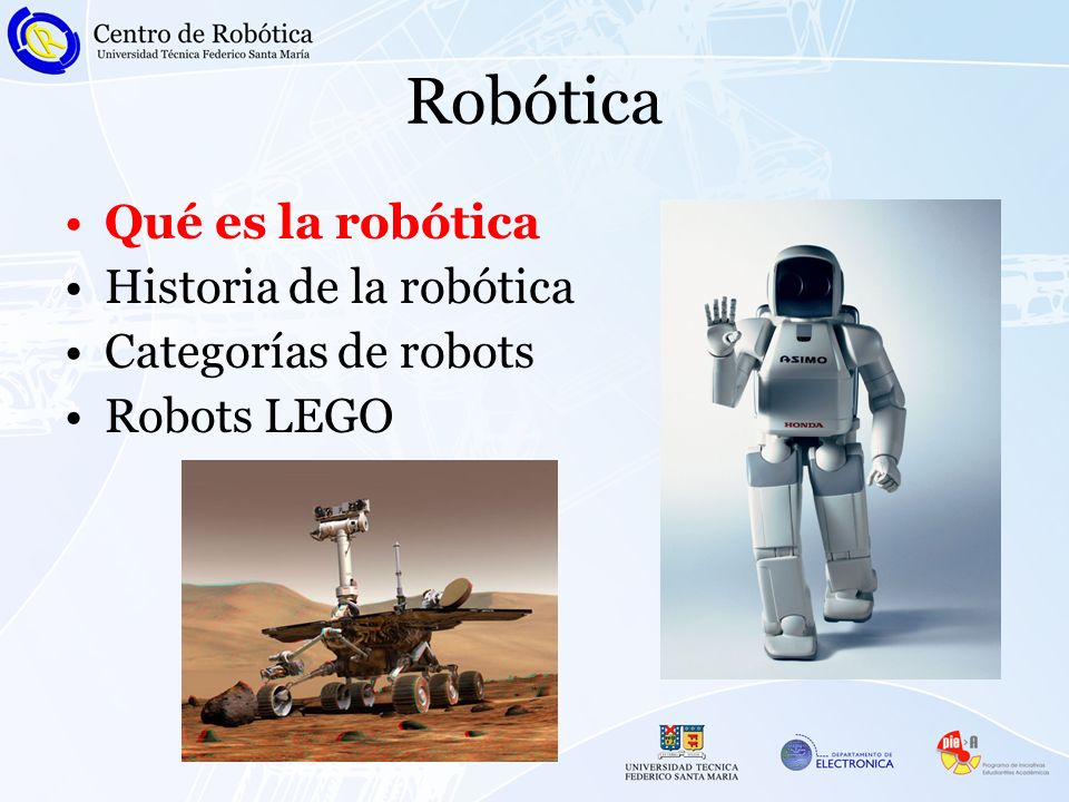 Robótica Qué es la robótica Historia de la robótica