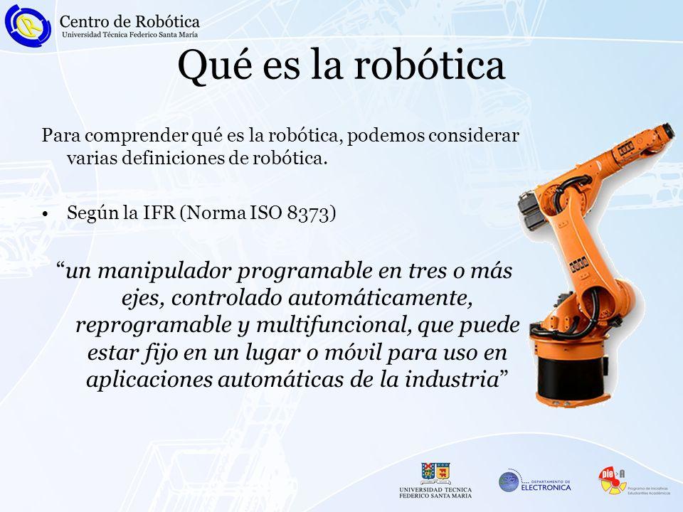Qué es la robótica Para comprender qué es la robótica, podemos considerar varias definiciones de robótica.