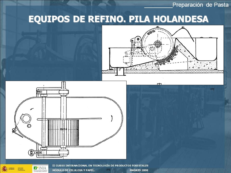 EQUIPOS DE REFINO. PILA HOLANDESA