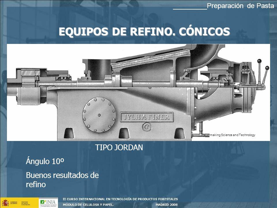 EQUIPOS DE REFINO. CÓNICOS