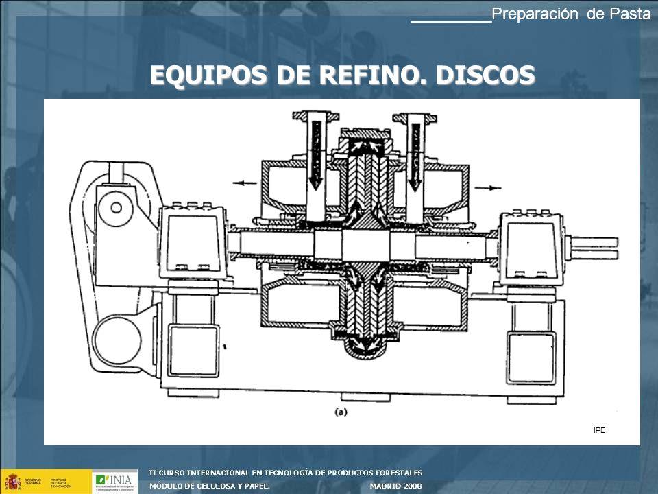 EQUIPOS DE REFINO. DISCOS