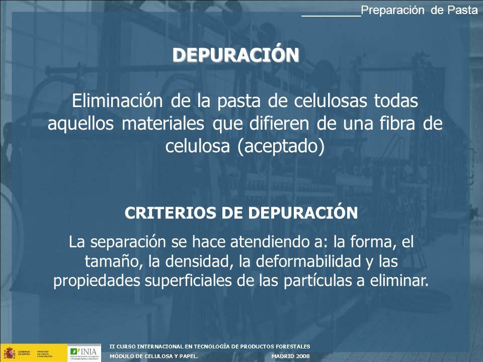 CRITERIOS DE DEPURACIÓN