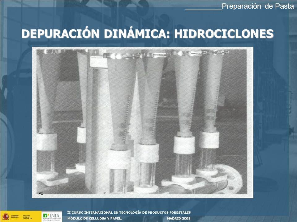 DEPURACIÓN DINÁMICA: HIDROCICLONES