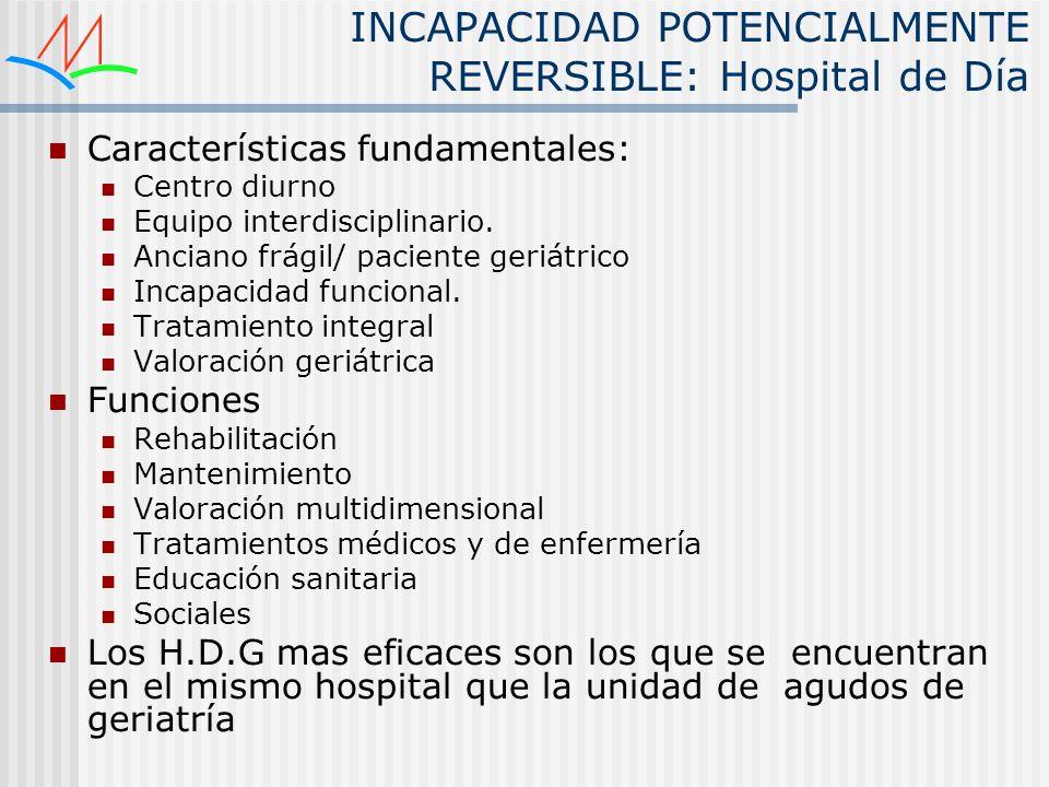 INCAPACIDAD POTENCIALMENTE REVERSIBLE: Hospital de Día