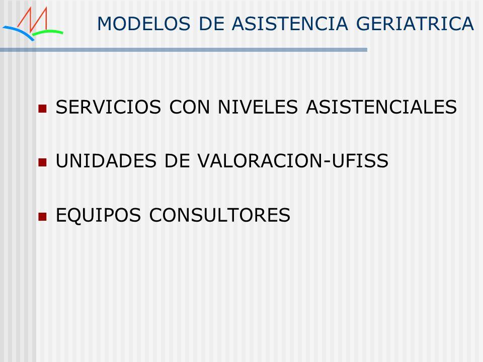 MODELOS DE ASISTENCIA GERIATRICA