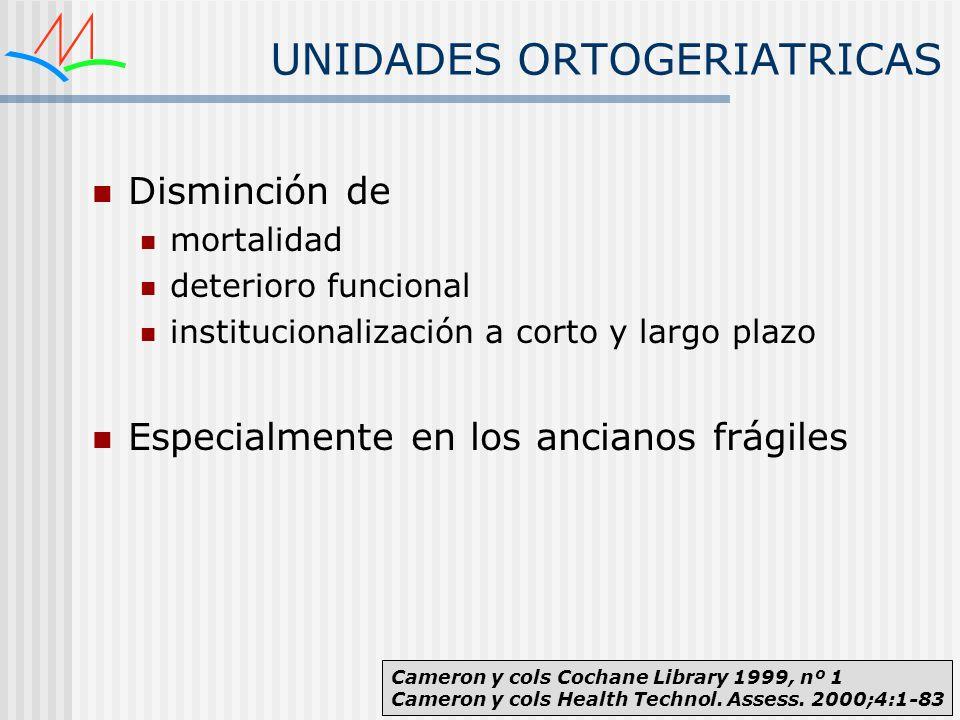 UNIDADES ORTOGERIATRICAS