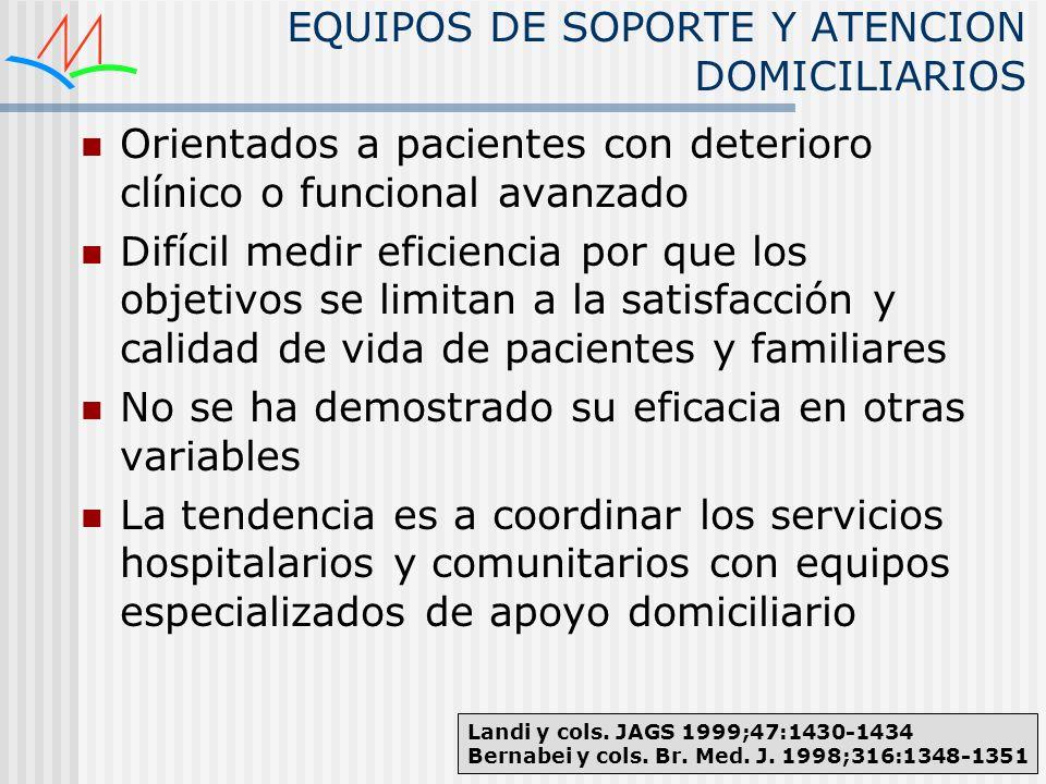EQUIPOS DE SOPORTE Y ATENCION DOMICILIARIOS
