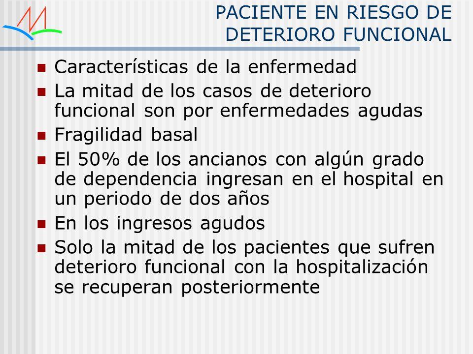 PACIENTE EN RIESGO DE DETERIORO FUNCIONAL