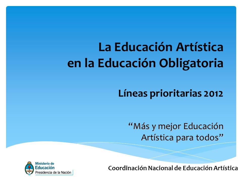 La Educación Artística en la Educación Obligatoria