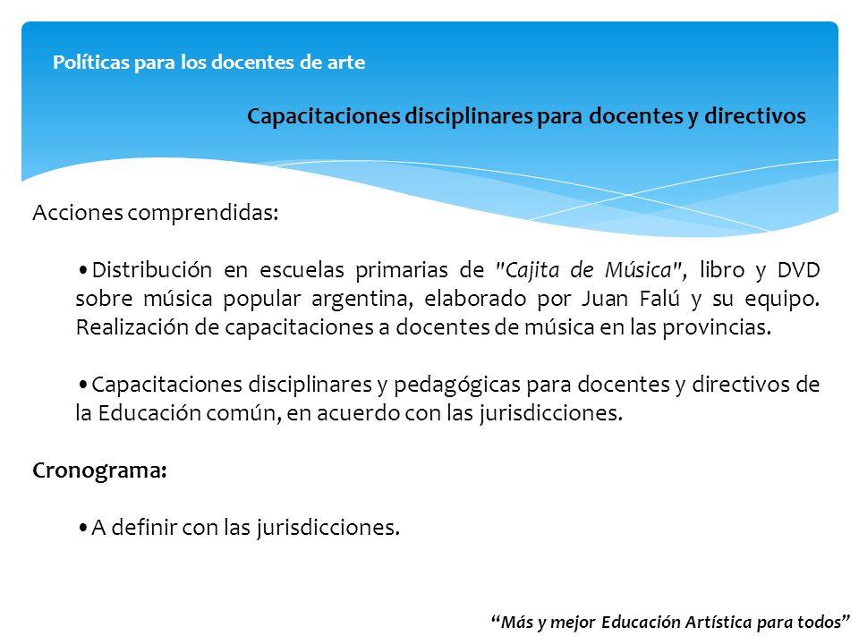 Capacitaciones disciplinares para docentes y directivos