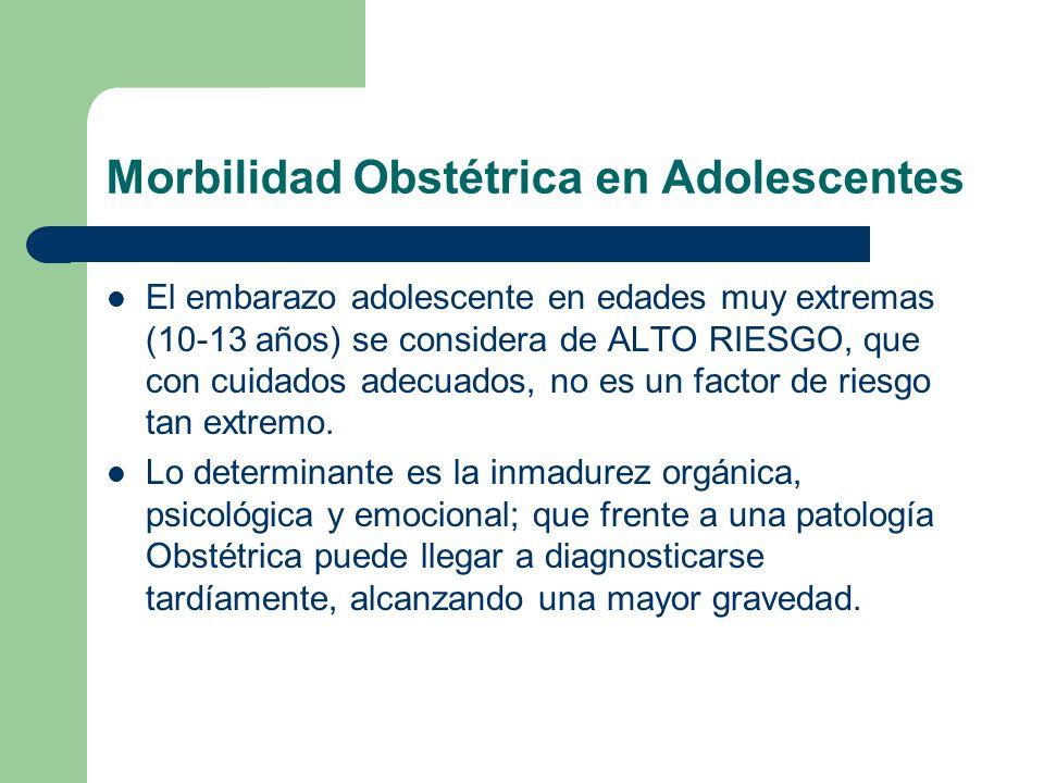 Morbilidad Obstétrica en Adolescentes
