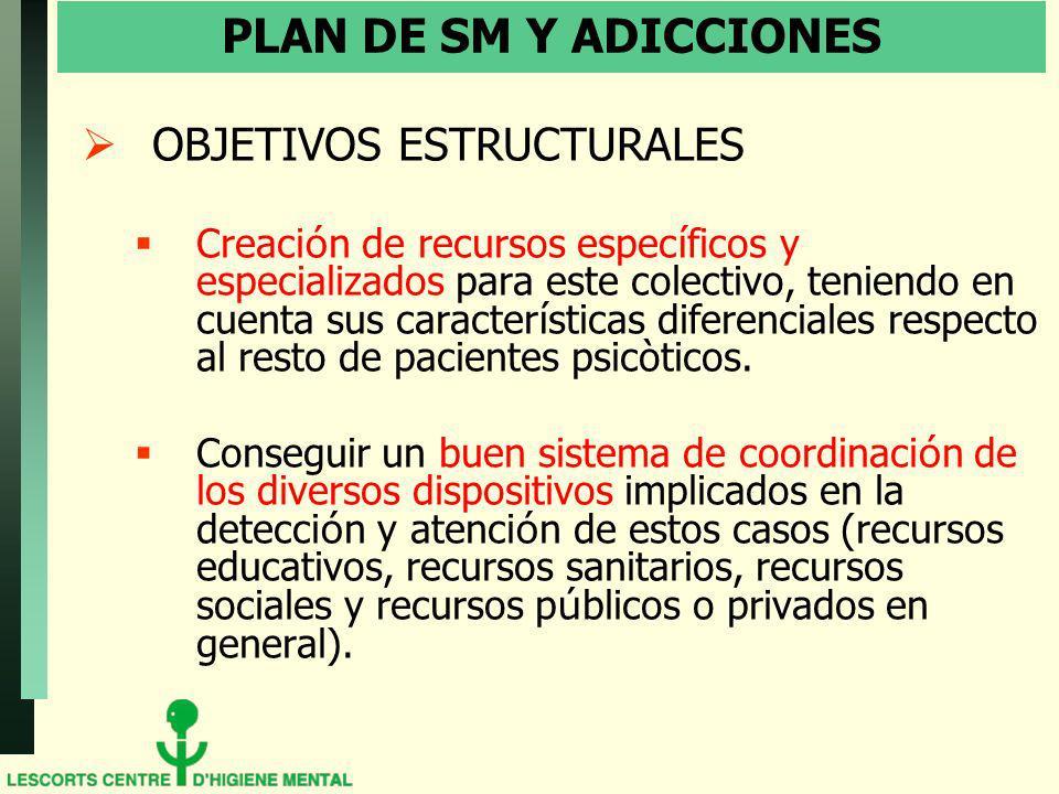 PLAN DE SM Y ADICCIONES OBJETIVOS ESTRUCTURALES