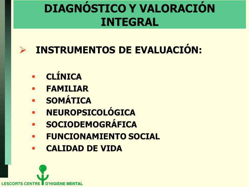 DIAGNÓSTICO Y VALORACIÓN INTEGRAL