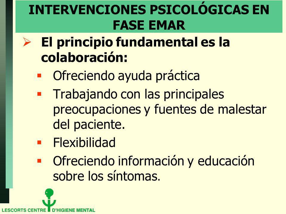 INTERVENCIONES PSICOLÓGICAS EN FASE EMAR