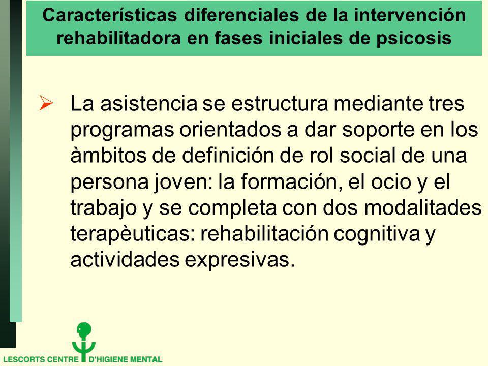 Características diferenciales de la intervención rehabilitadora en fases iniciales de psicosis