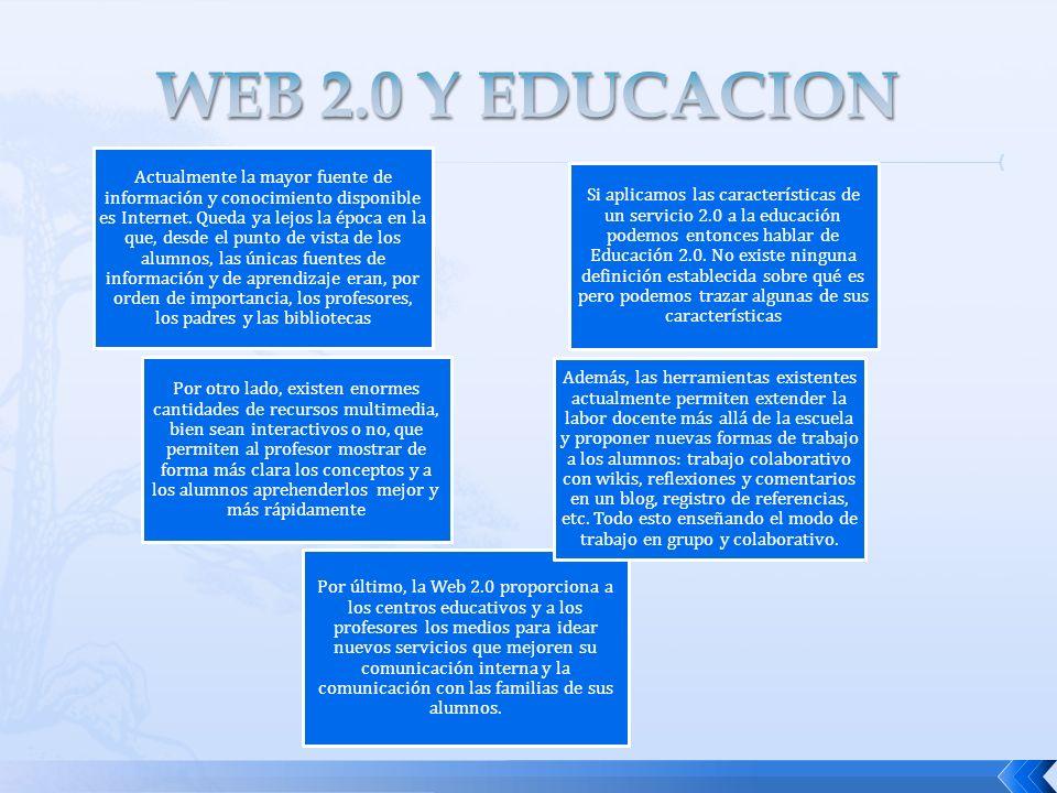 WEB 2.0 Y EDUCACION