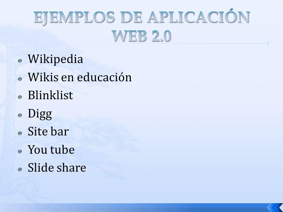 EJEMPLOS DE APLICACIÓN WEB 2.0