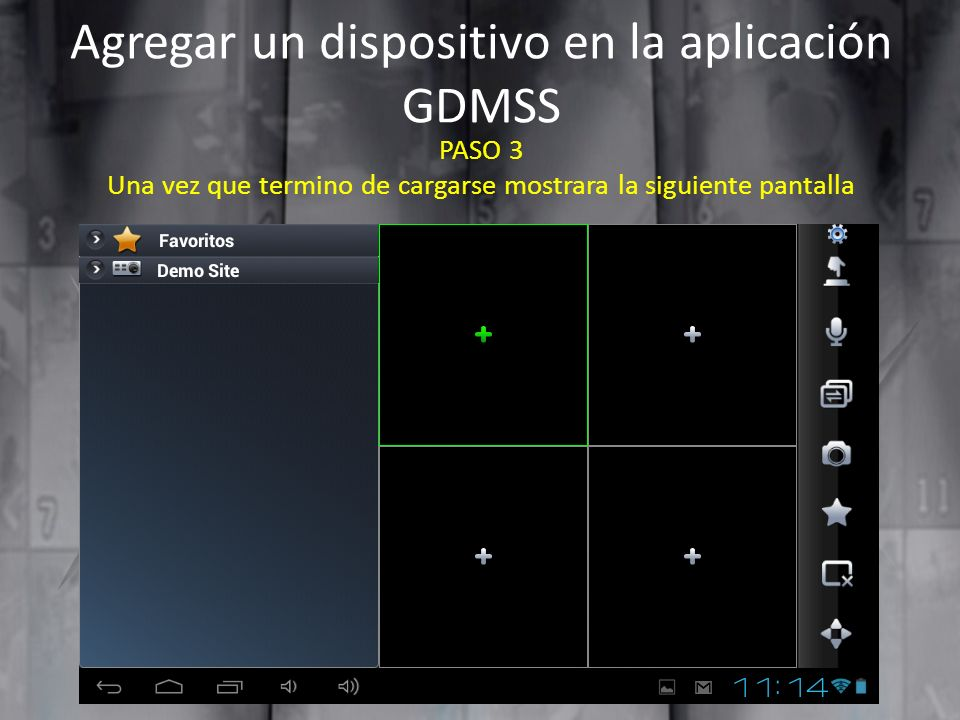 Agregar un dispositivo en la aplicación GDMSS