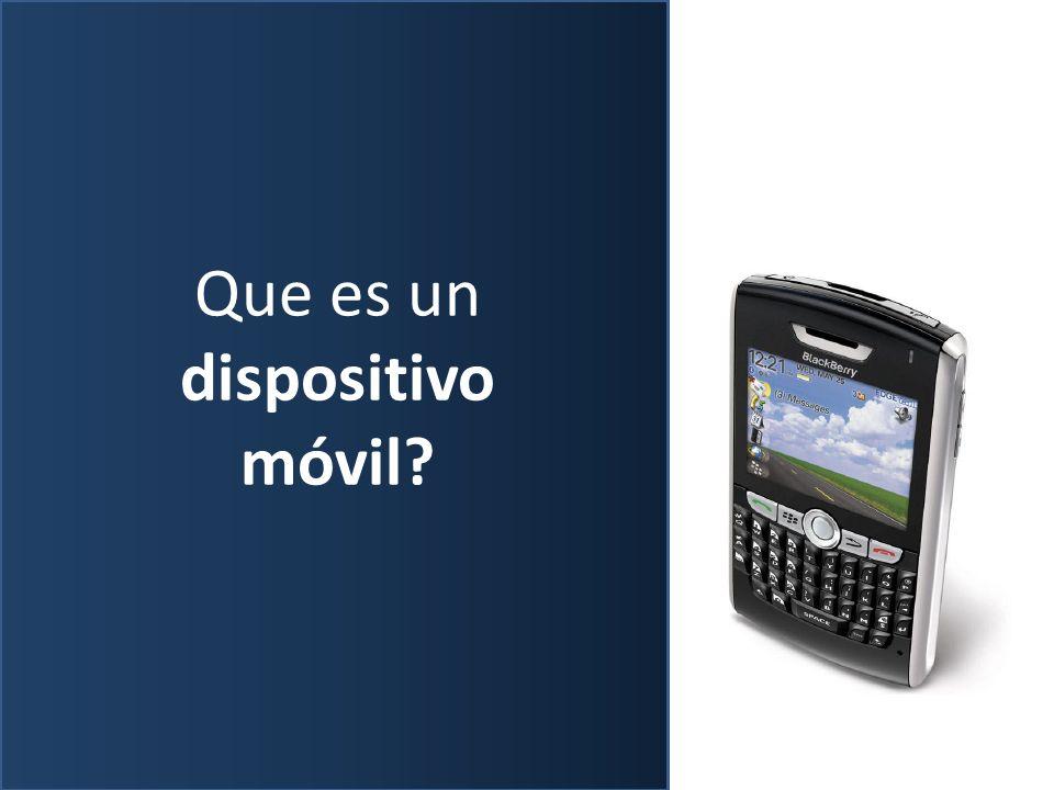 Que es un dispositivo móvil