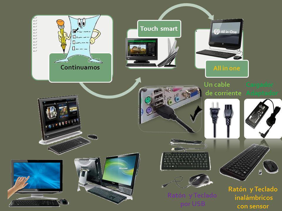 Ratón y Teclado inalámbricos con sensor Ratón y Teclado por USB