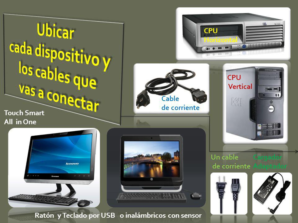 cada dispositivo y los cables que