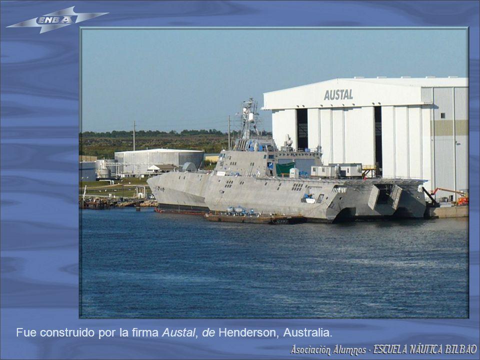 Fue construido por la firma Austal, de Henderson, Australia.