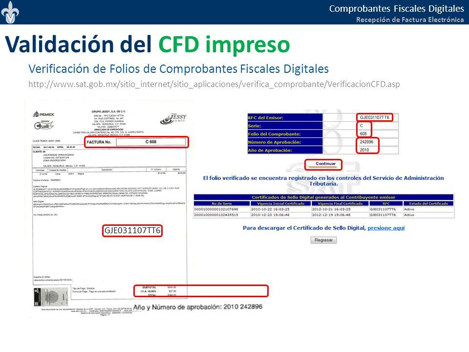 Validación del CFD impreso