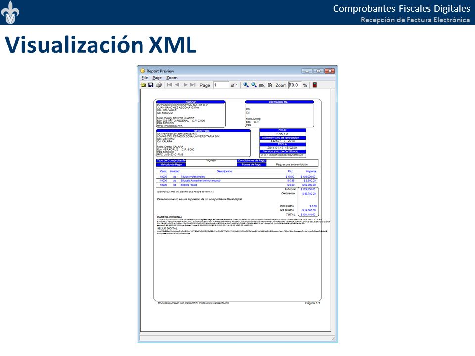 Visualización XML