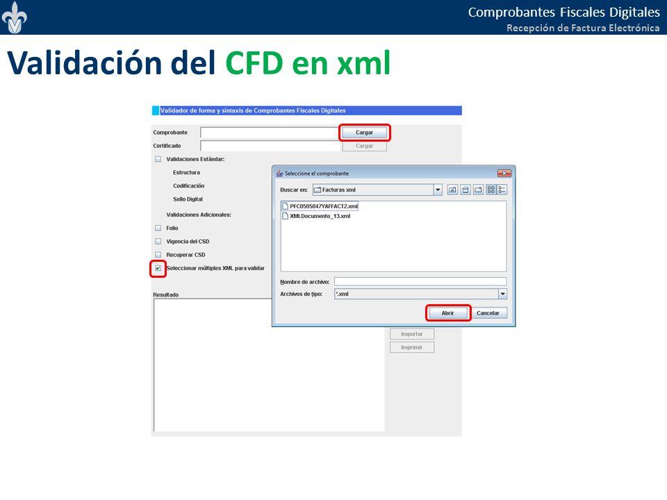 Validación del CFD en xml