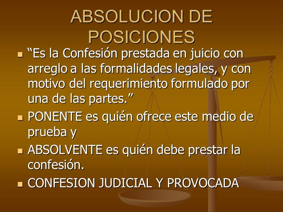 ABSOLUCION DE POSICIONES