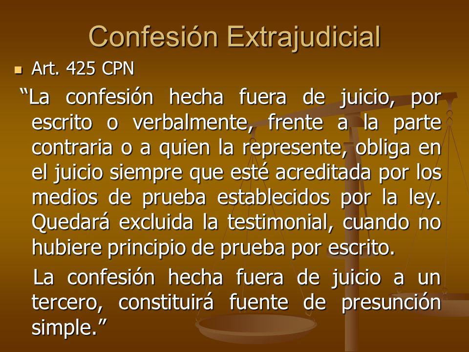 Confesión Extrajudicial