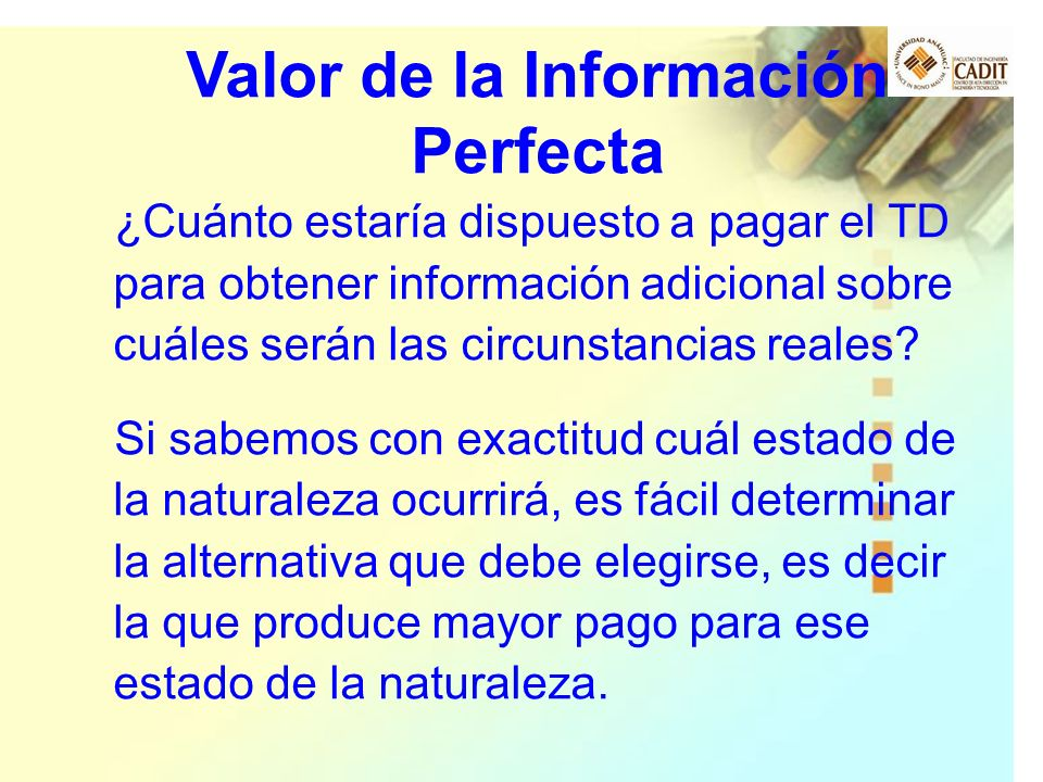 Valor de la Información Perfecta