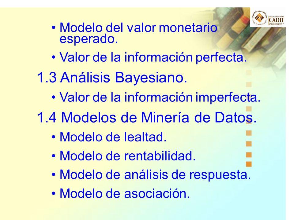 1.4 Modelos de Minería de Datos.