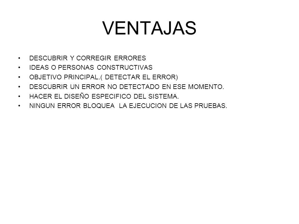 VENTAJAS DESCUBRIR Y CORREGIR ERRORES IDEAS O PERSONAS CONSTRUCTIVAS