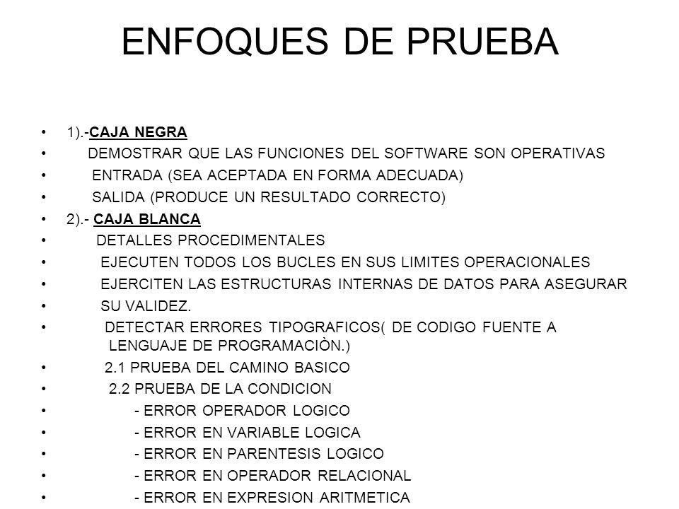 ENFOQUES DE PRUEBA 1).-CAJA NEGRA