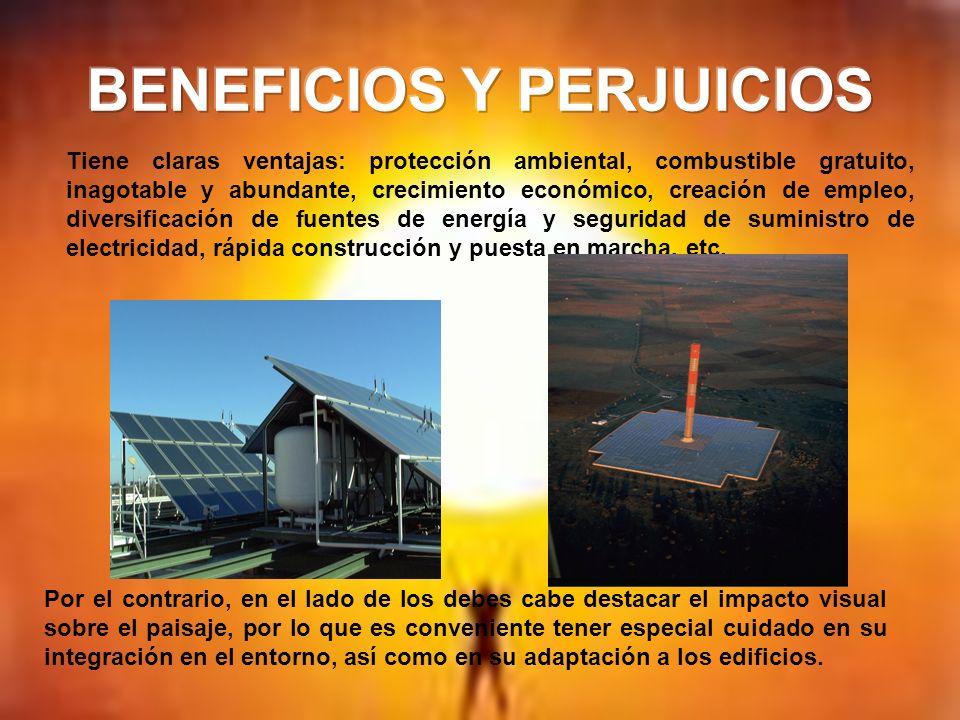 BENEFICIOS Y PERJUICIOS
