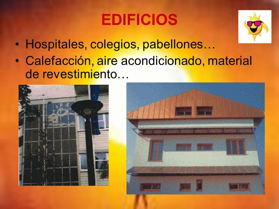 EDIFICIOS Hospitales, colegios, pabellones…