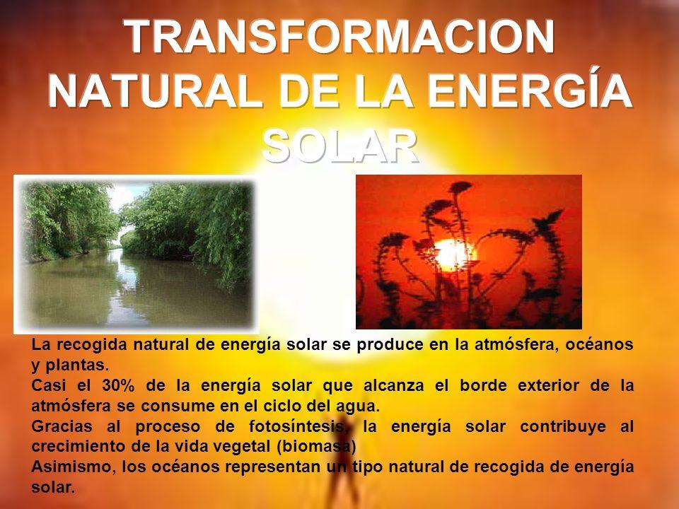 TRANSFORMACION NATURAL DE LA ENERGÍA SOLAR
