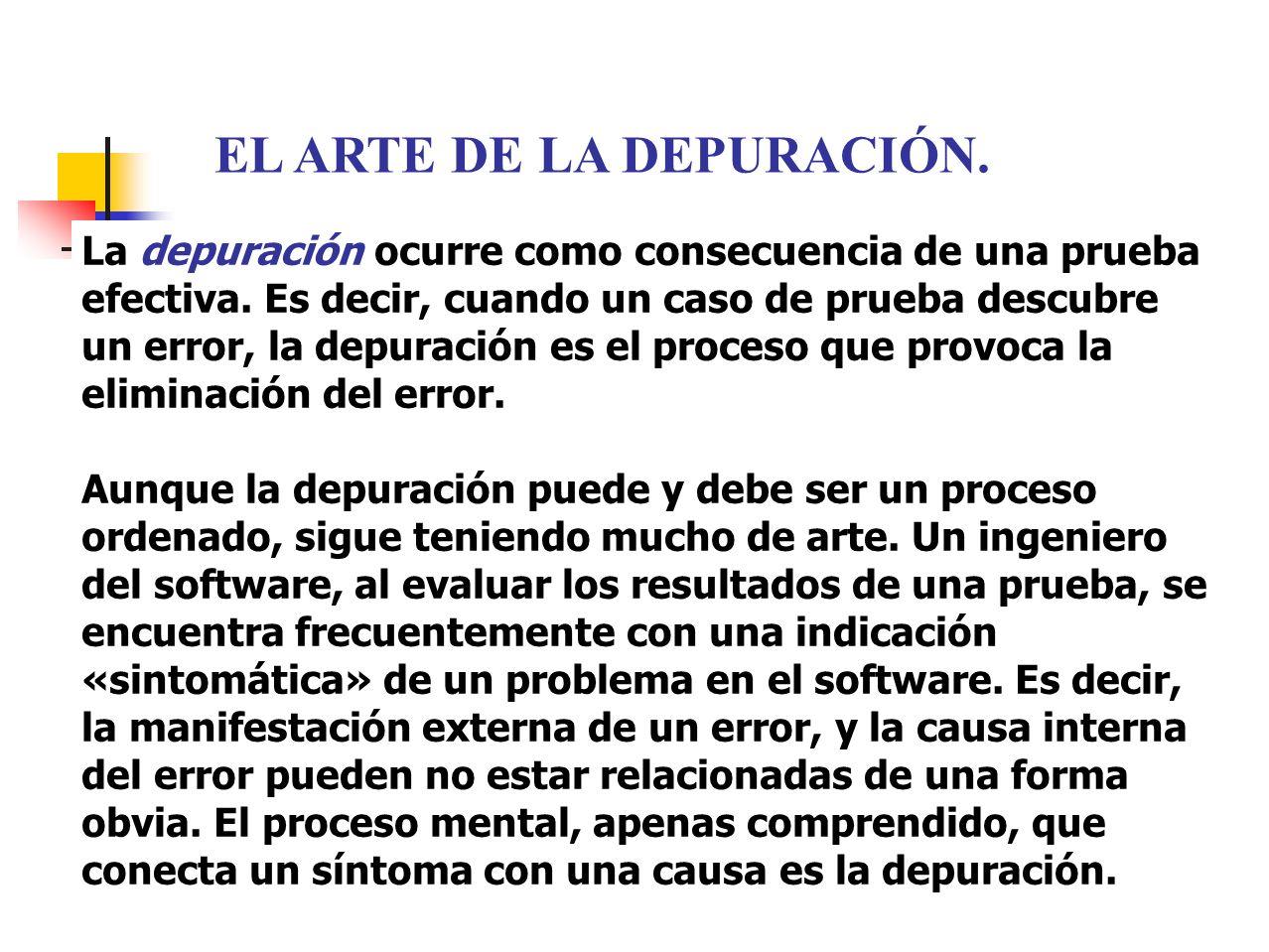 EL ARTE DE LA DEPURACIÓN.