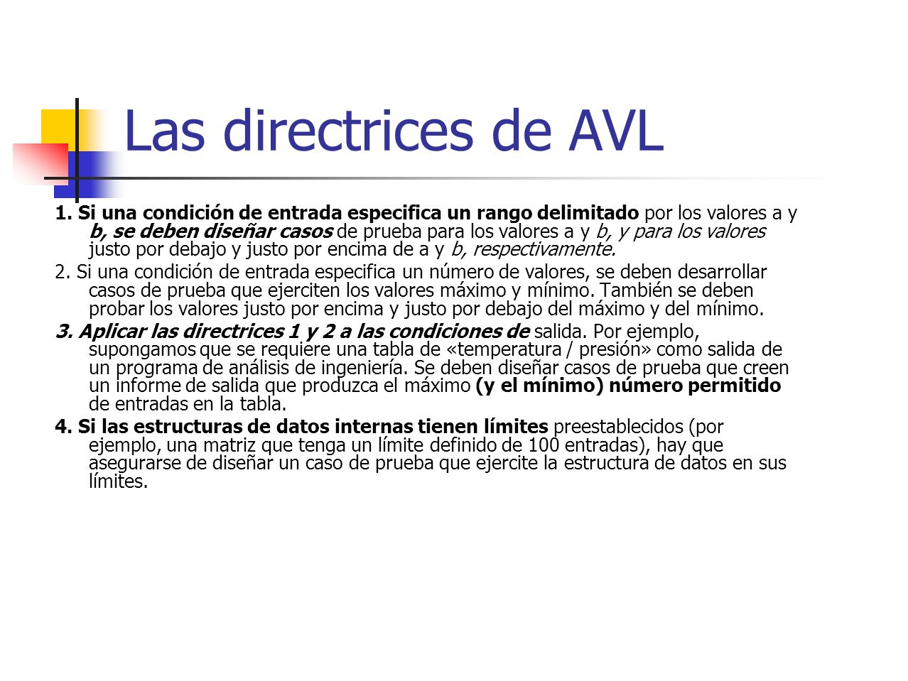 Las directrices de AVL