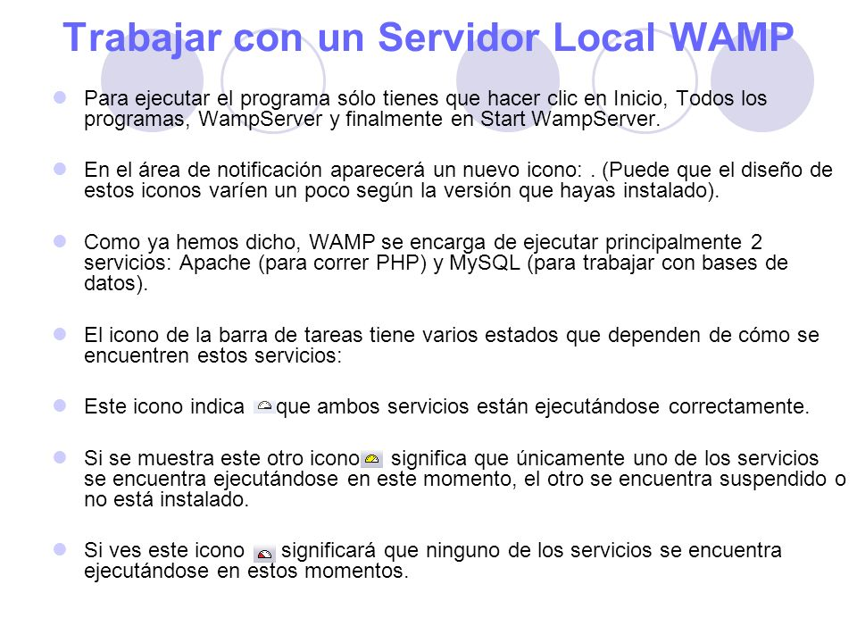 Trabajar con un Servidor Local WAMP