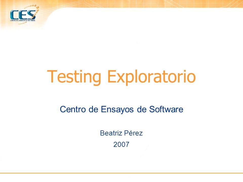 Centro de Ensayos de Software Beatriz Pérez 2007