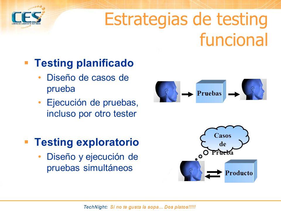 Estrategias de testing funcional