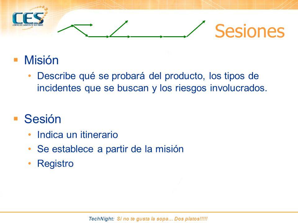 Sesiones Misión Sesión