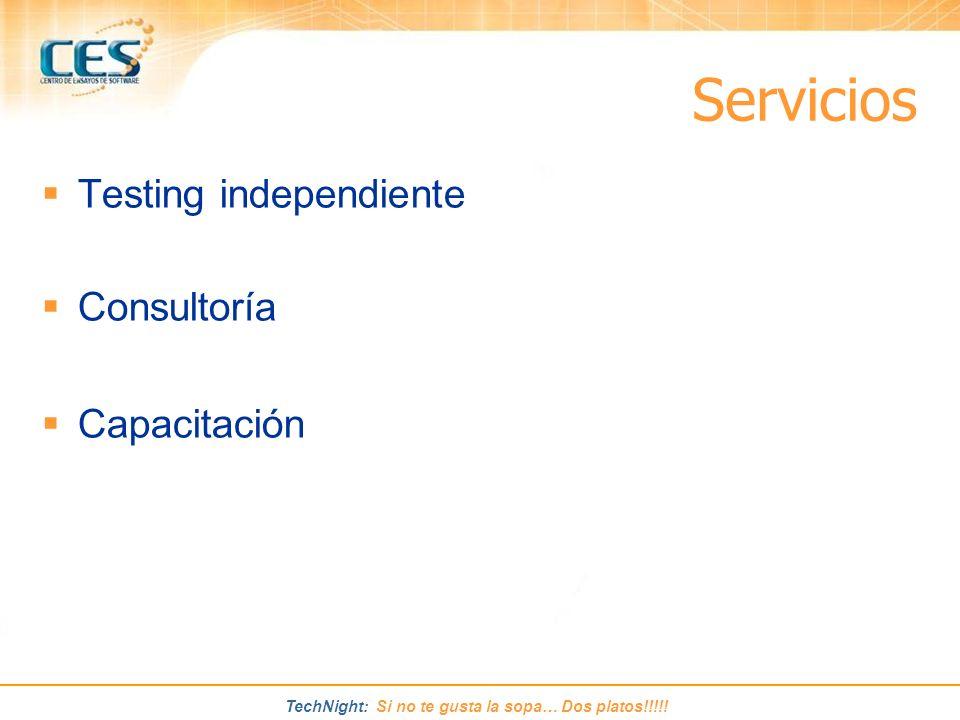 Servicios Testing independiente Consultoría Capacitación