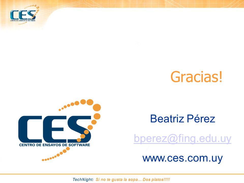 Gracias! Beatriz Pérez bperez@fing.edu.uy www.ces.com.uy
