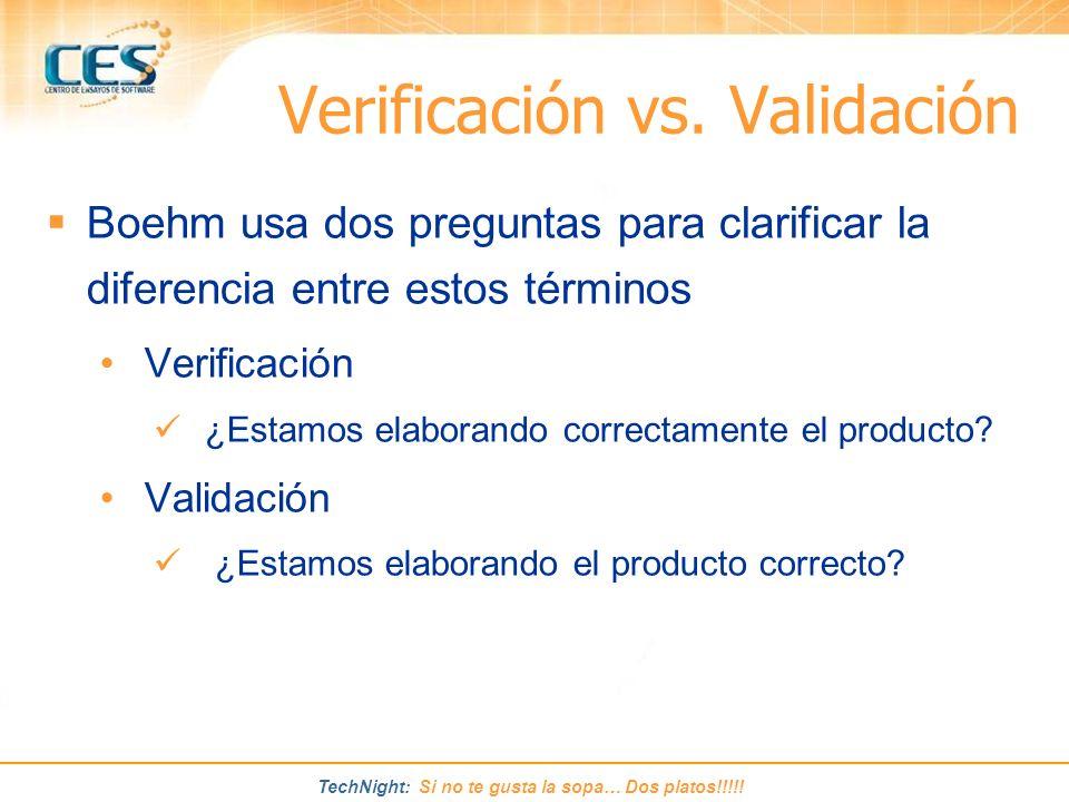 Verificación vs. Validación
